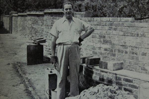 Novelist Dennis Wheatley and his Lymington crinkle crankle