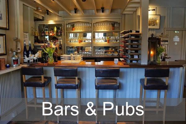 Bars and Pubs in the New Forest and Lymington area
