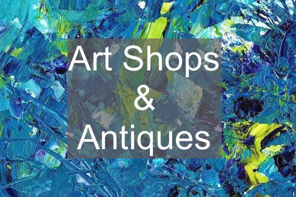 art shops and antique shops in Lymington and the New Forest