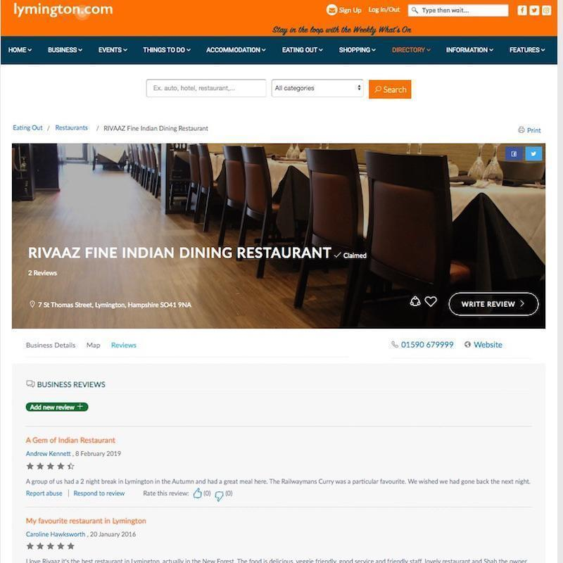 Add Your Reviews - RIVAAZ Restaurant