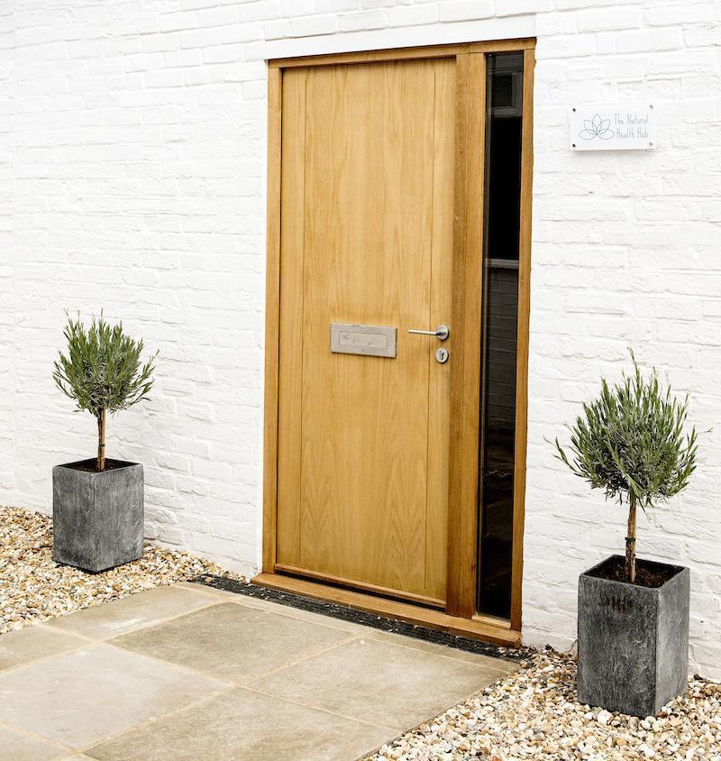 Natural Health Hub front door awaits you ajar