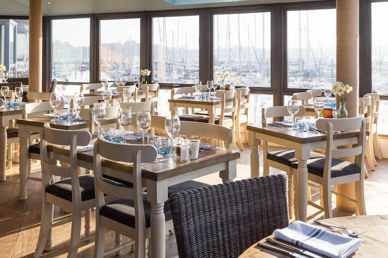 See-Inside - the view from inside out from the Haven Restaurant Lymington