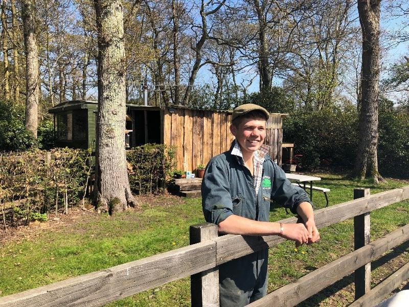 Tom Hordle in front of his home on his Hereford beef farm in the New Forest