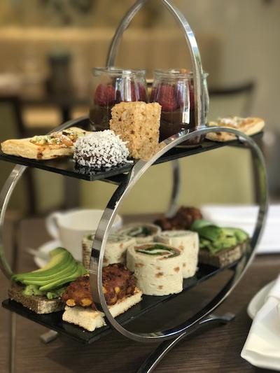 Vegan afternoon tea at Careys Manor Hotel New Forest