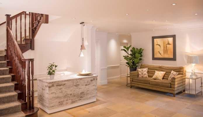 The entrance area to Chewton Glen Spa