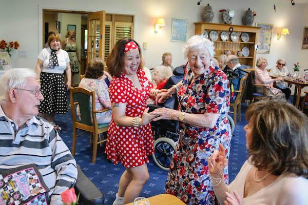 A taste of the Fifties at New Milton care home charity supper