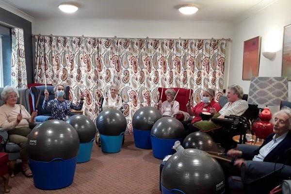 cardio drumming at Belmore Lodge in Lymington
