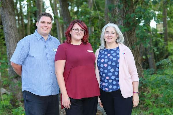 The new Colten Care Admiral Nurse team. From left: Adam Smith, Kay Gibson and Tracy Logan.
