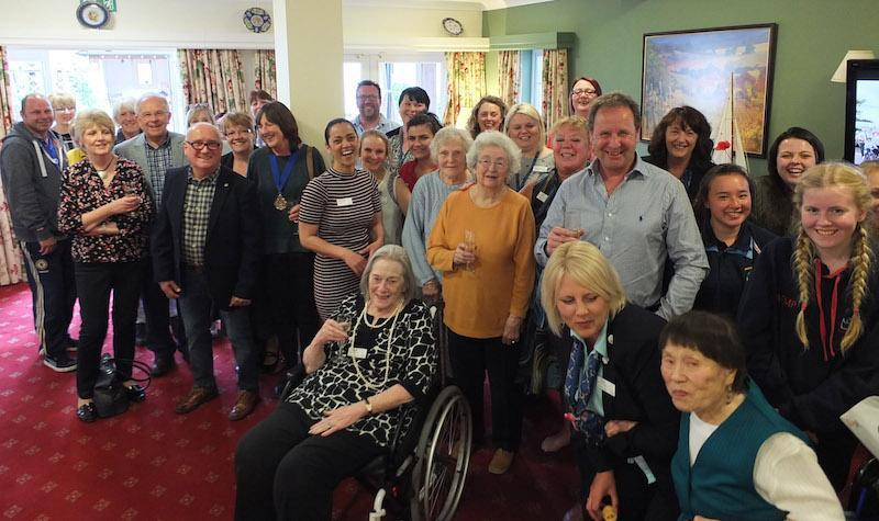 All smiles at Colten Care's Belmore Lodge care home in Lymington during the launch evening for this year's Lymington Carnival