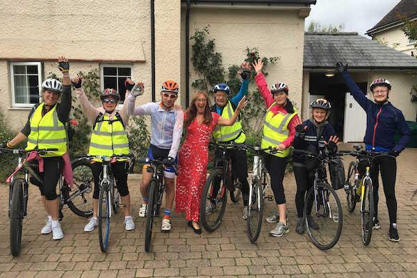 Pedal power guides Colten Care's charity thank you