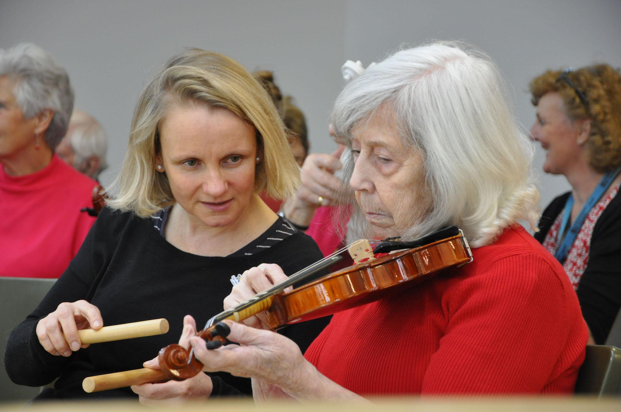 85 year old with dementia adds another string to her bow