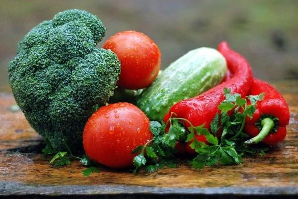 Plenty of fresh vegetables helping to boost our immune systems