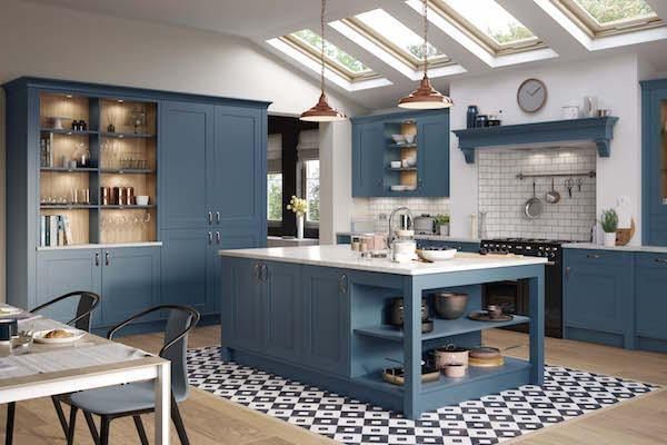 Crestwood of Lymington Kitchens - Keele Kitchen in airforce blue