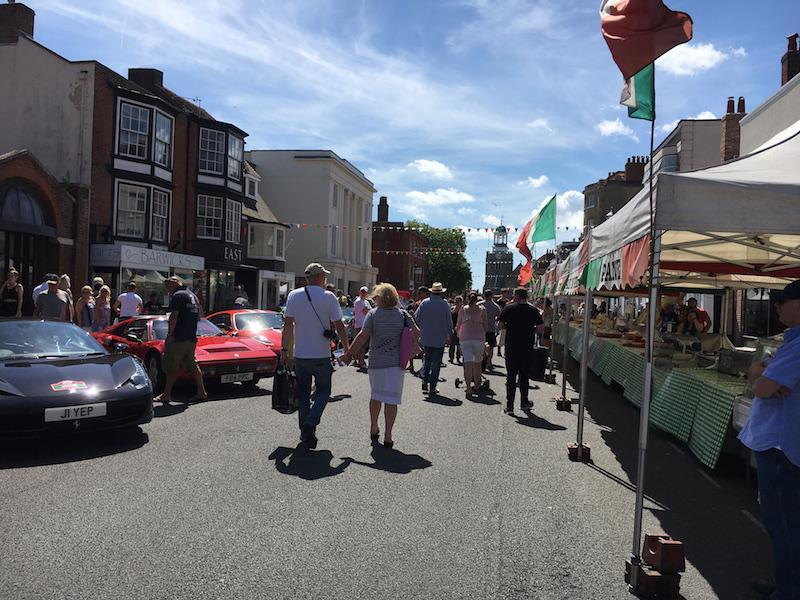 Italian Market at the Italia Festival 2017 in Lymington - image by Lymington.com