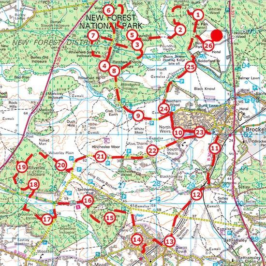 New Forest Marathon route 2018