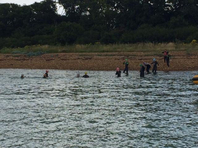 Solent swimmers in aid of Piam Brown ward at Southampton Hospital