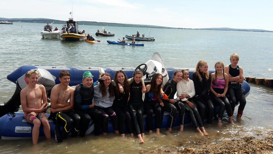 New Forest teenagers swim Solent in memory of their friend