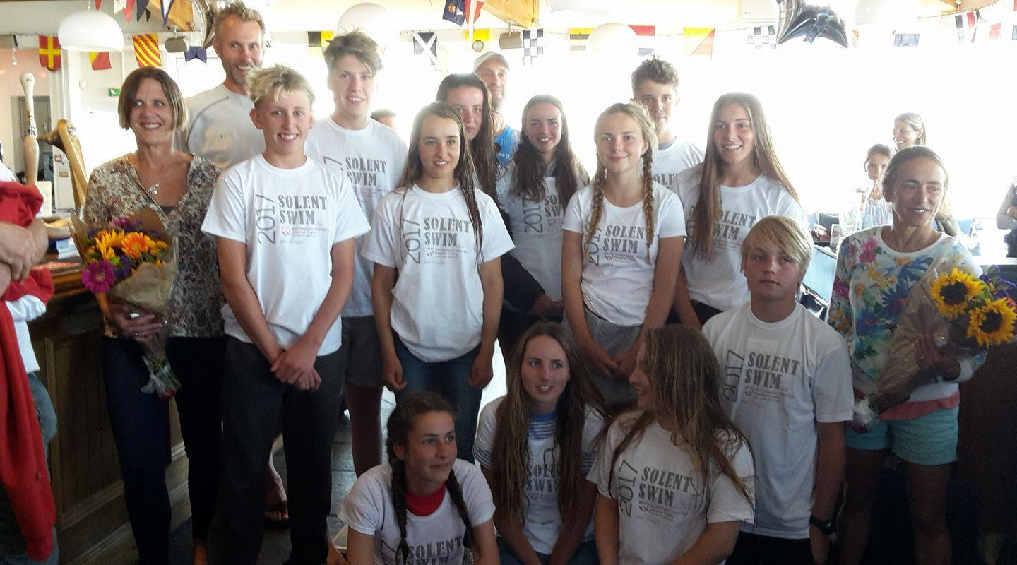 12 Lymington teenagers swim the solent in memory of their friend Lizzie