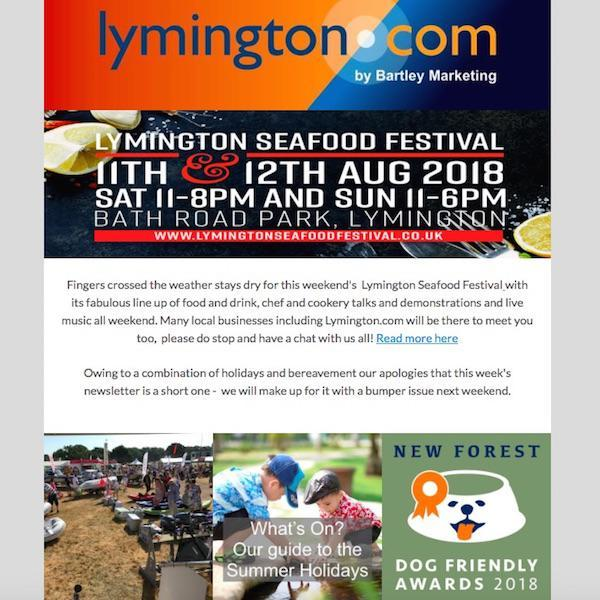 Lymington and New Forest Newsletter 10 August 2018
