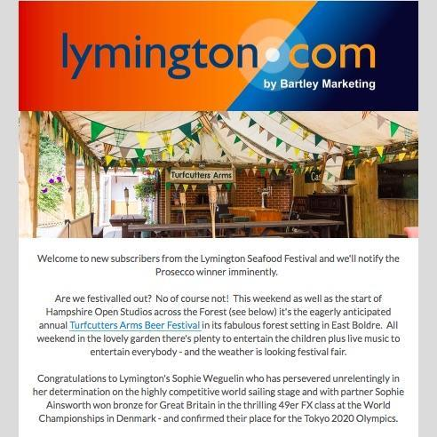 Lymington and New Forest Newsletter 17 August 2018