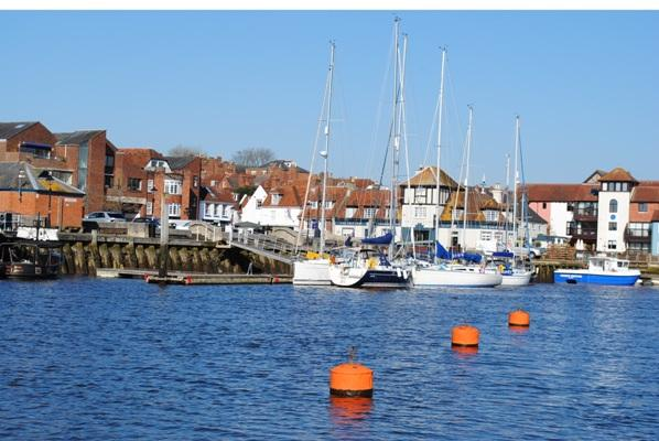 lymington town quay aug19 - from the water