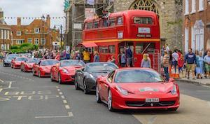 Ferraris at the Italia Festival in Lymington by Steve Elson