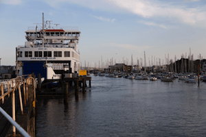 Wightlink in Lymington by John Carratt