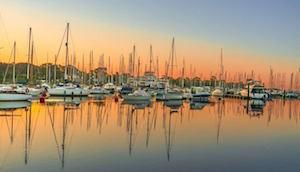 Yachts on Lymington River by Steve Elson