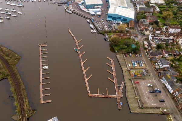 Another aerial view of the new facilities at Lymington Quay