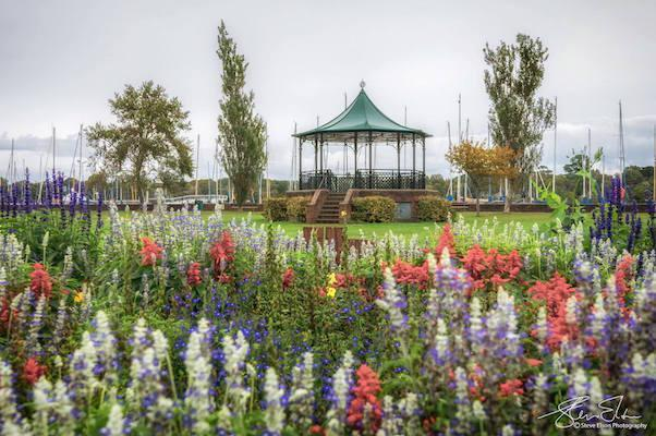 bath road flowers and bandstand