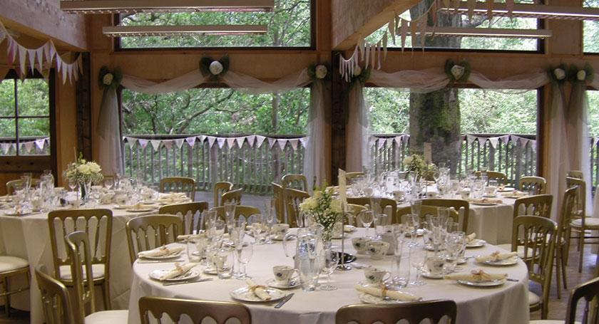 Weddings at the Countryside Education Trust treehouse