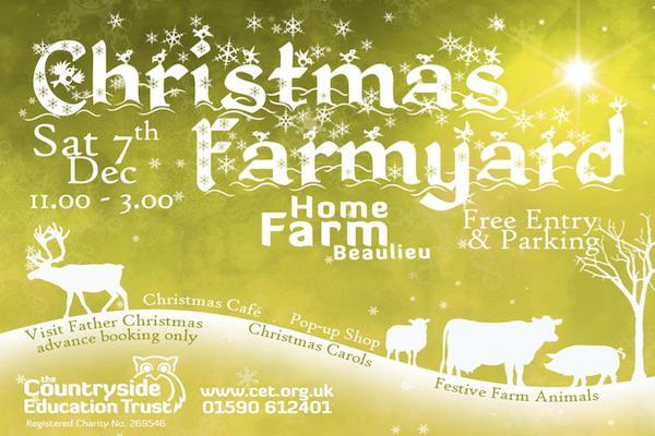 Christmas Farmyard 2019 at the Countryside Education Trust in Beaulieu New Forest