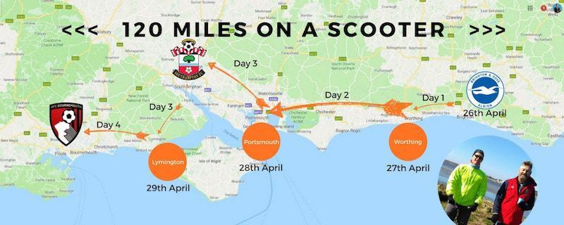 120 miles on a scooter to raise funds