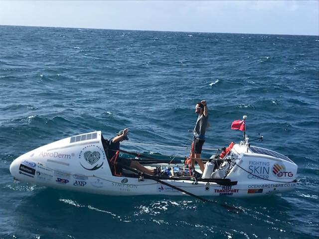 Ocean Brothers finish their 3000 mile row across the Atlantic 11 March 2018