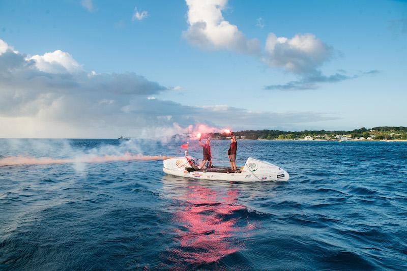 The Ocean Brothers celebrate the end of their 3000 unsupported row across the Atlantic by Adam Rowley Creative http://www.adamrowleycreative.com