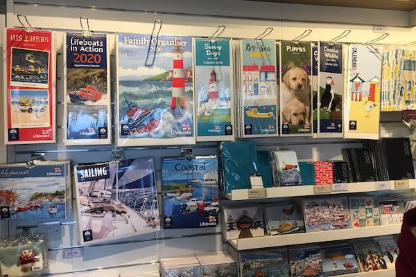 Calendars diaries cards at the RNLI gift shop Lymington