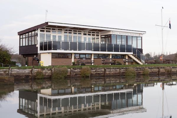 The clubhouse at Gins, Royal Southampton Yacht Club