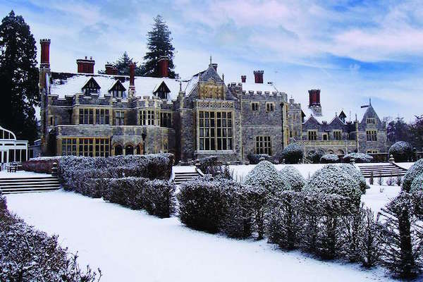 Rhinefield House Snowy Exterior