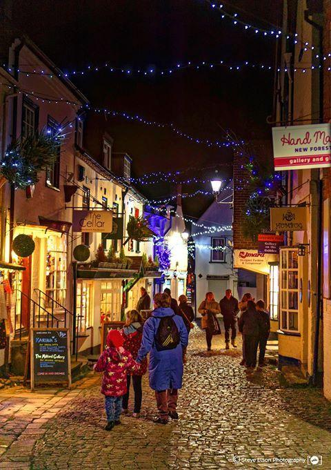 Christmas in Quay Street Lymington