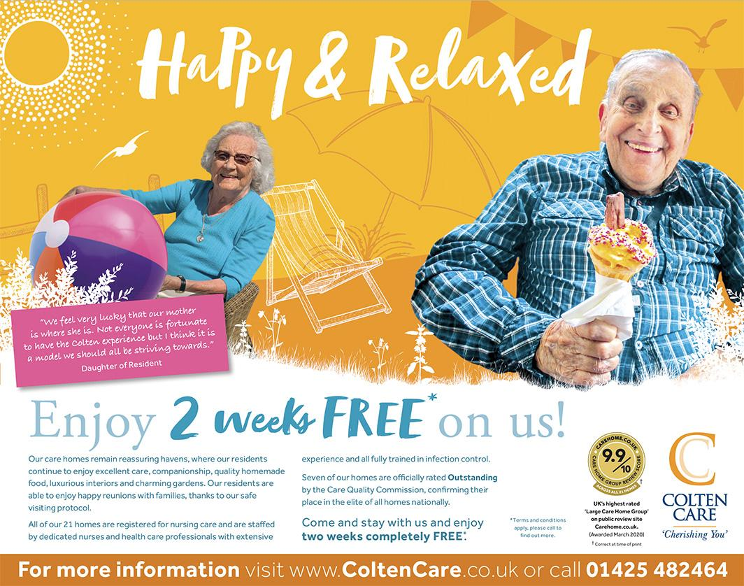 Colten Care 2 weeks free advert yellow