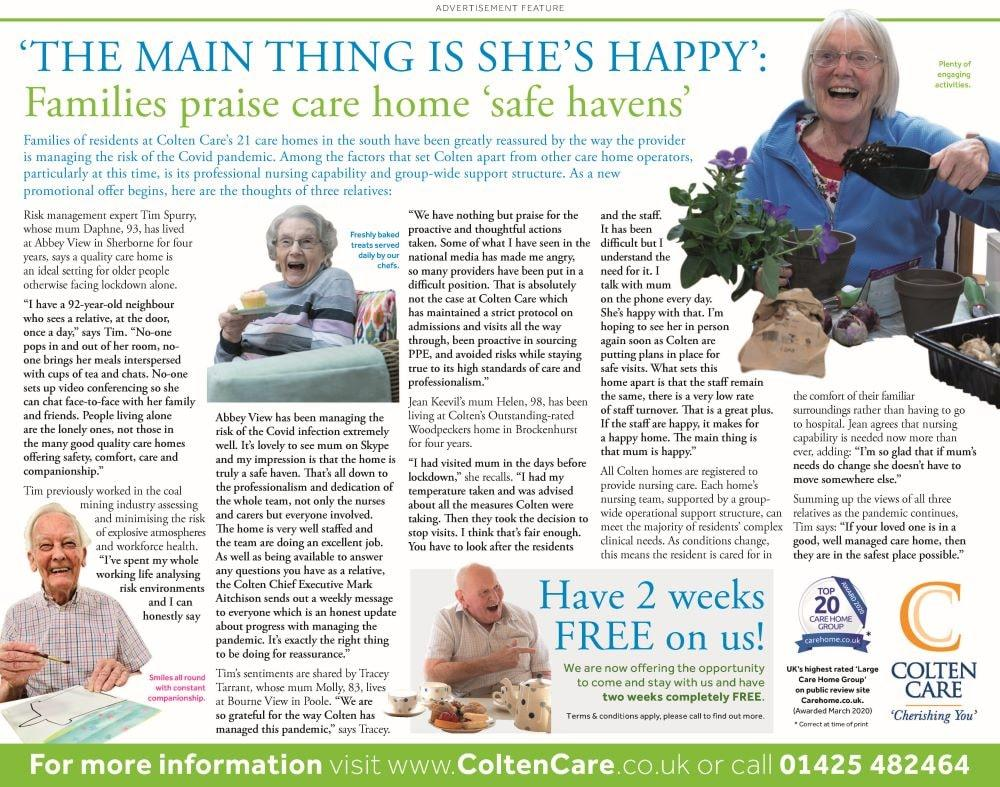 colten care relatives advertorial 26jun20