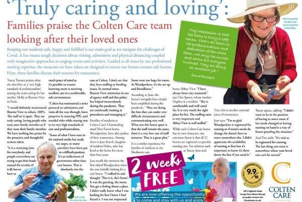 caring and loving advertorial