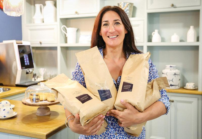 Colten Care's coffee supplier The Blue Label Coffee Company, founded by Binny Wookey (pictured), has adopted plastic-free packaging.