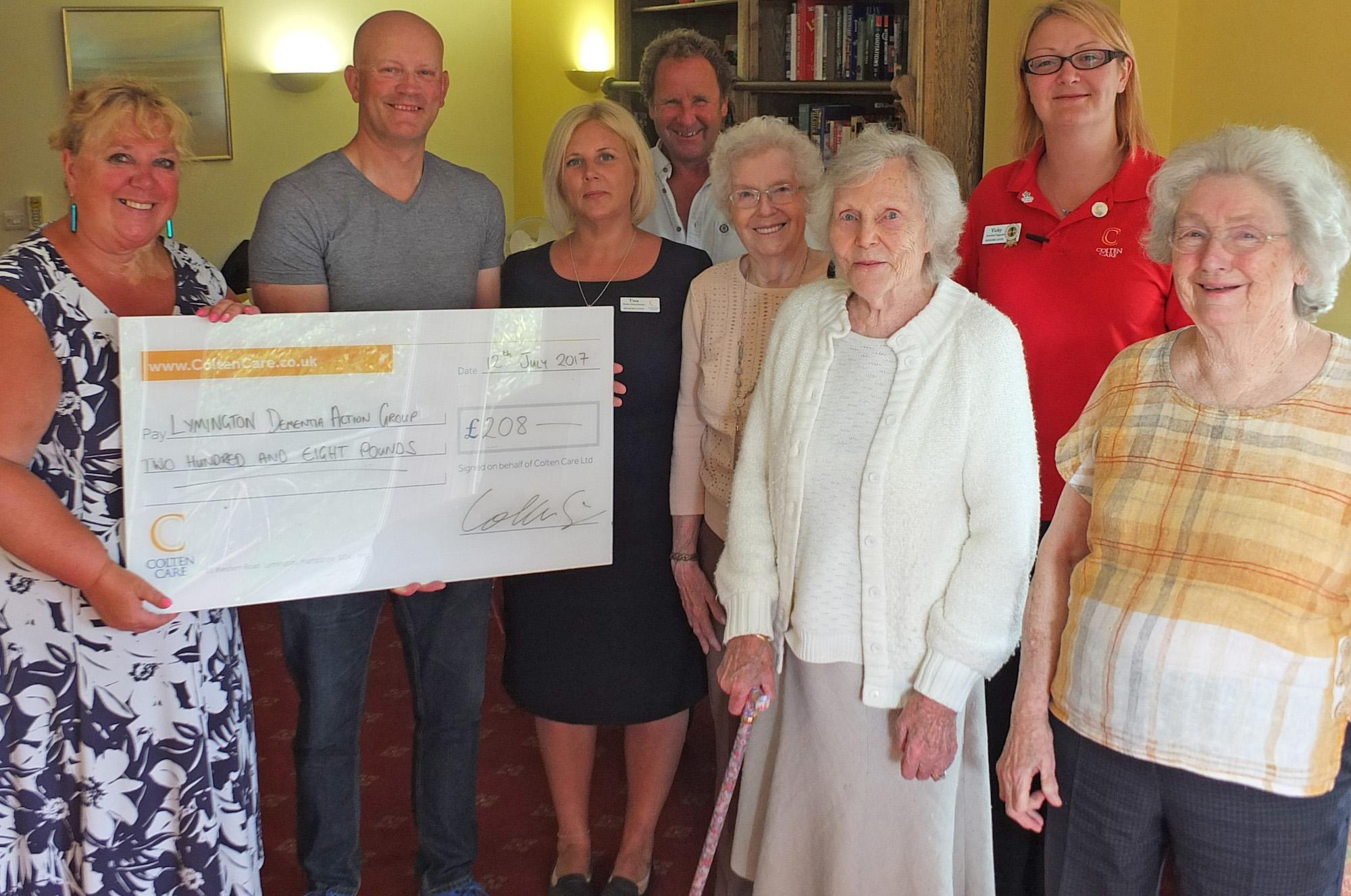 Colten Care Quiz in aid of Lymington Dementia Action Group