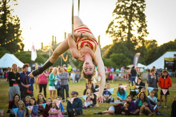 Aerial Hoop at Curious Arts Festival