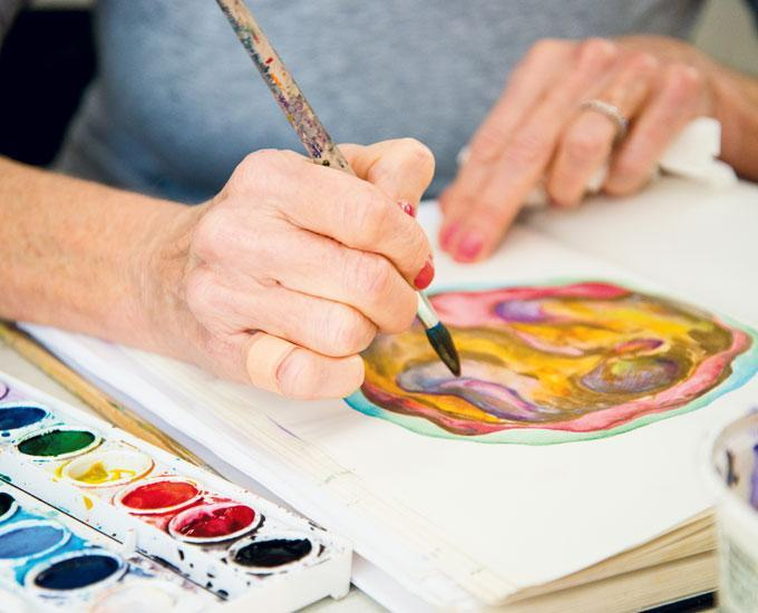 art therapy for people living with dementia