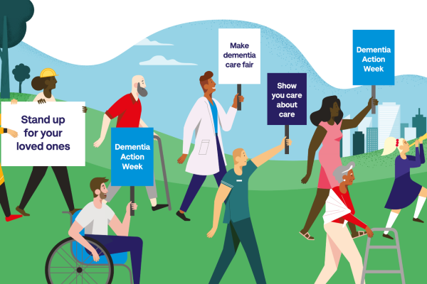 placards about action for dementia