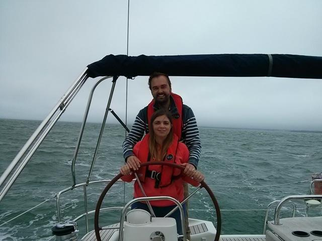 Darren and Emma enjoy their first yachting experience with Escape Yachting Lymington