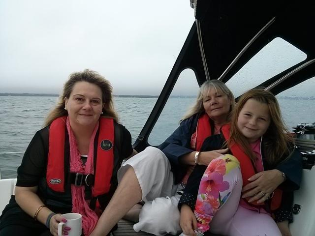 Victoria and her family enjoy instant relaxation with Escape Yachting Lymington