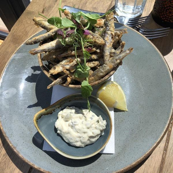 The Haven Restaurant Crispy Fried Whitebait with Tartare Sauce